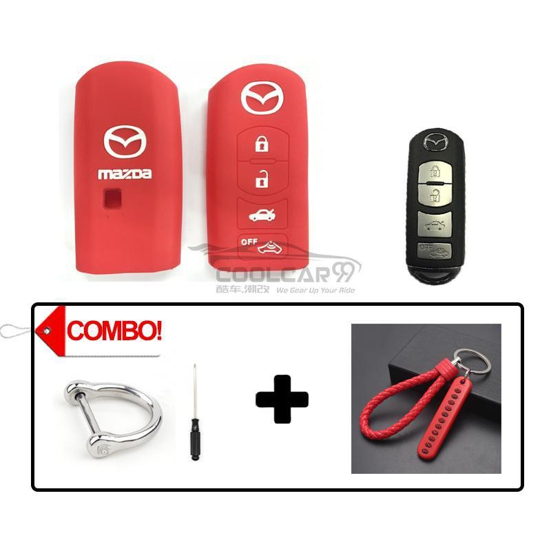 Silicone Key Cover COMBO-RED Mazda CX-7 CX-9 MX-5 Silicone Key Case Cover