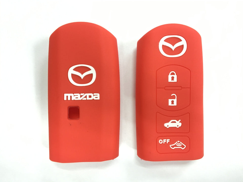 Silicone Key Cover RED Mazda CX-7 CX-9 MX-5 Silicone Key Case Cover