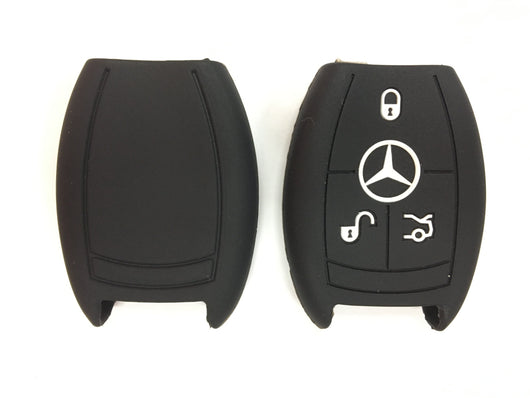 Silicone Key Cover BLACK Mercedes Benz Silicone Key Case Cover