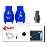 Silicone Key Cover COMBO-BLUE Mercedes Benz Silicone Key Case Cover