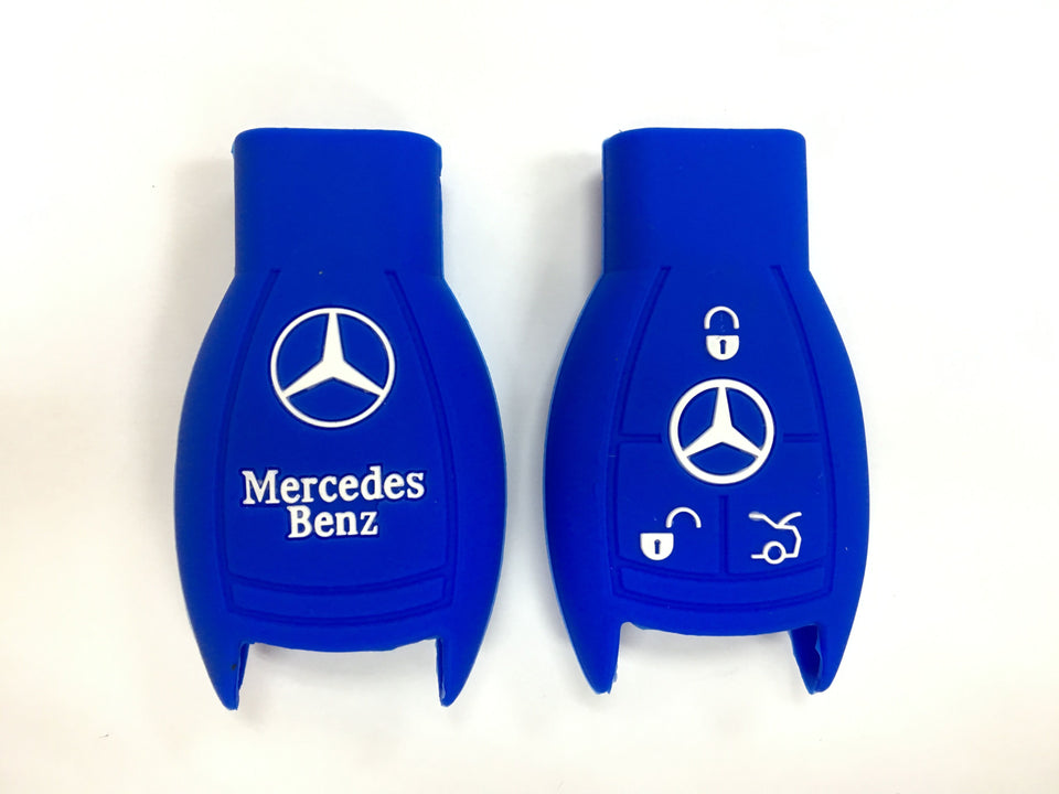 Silicone Key Cover BLUE Mercedes Benz Silicone Key Case Cover