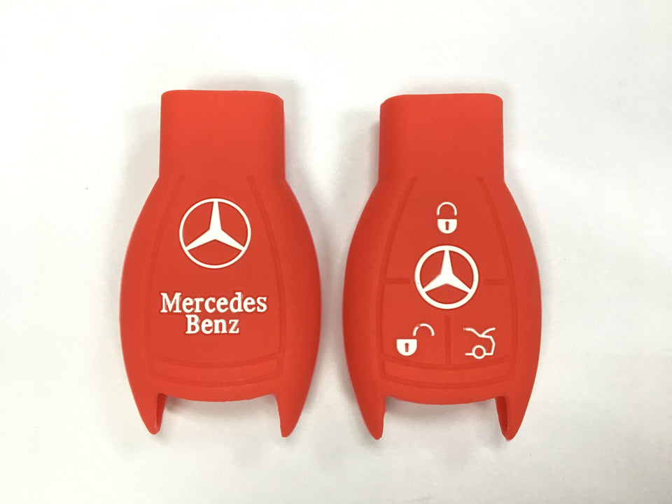 Silicone Key Cover RED Mercedes Benz Silicone Key Case Cover