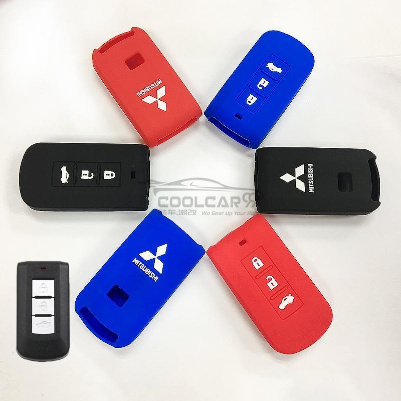 Silicone Key Cover BLACK Mitsubishi Lancer / Outlander Silicone Key Case Cover
