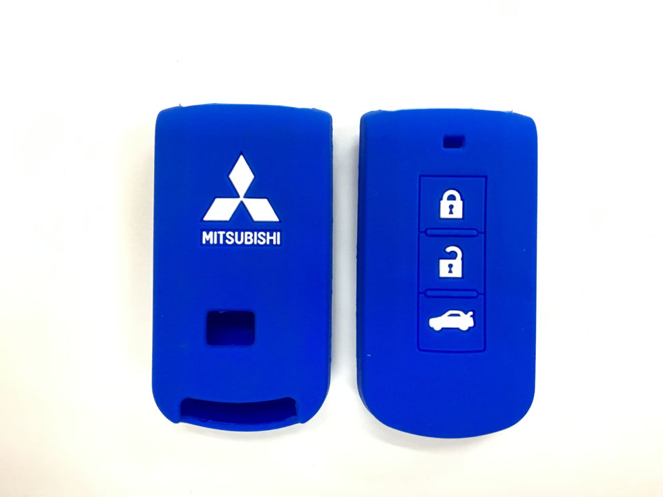 Silicone Key Cover BLUE Mitsubishi Lancer / Outlander Silicone Key Case Cover