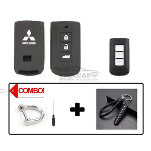 Silicone Key Cover COMBO-BLACK Mitsubishi Lancer / Outlander Silicone Key Case Cover