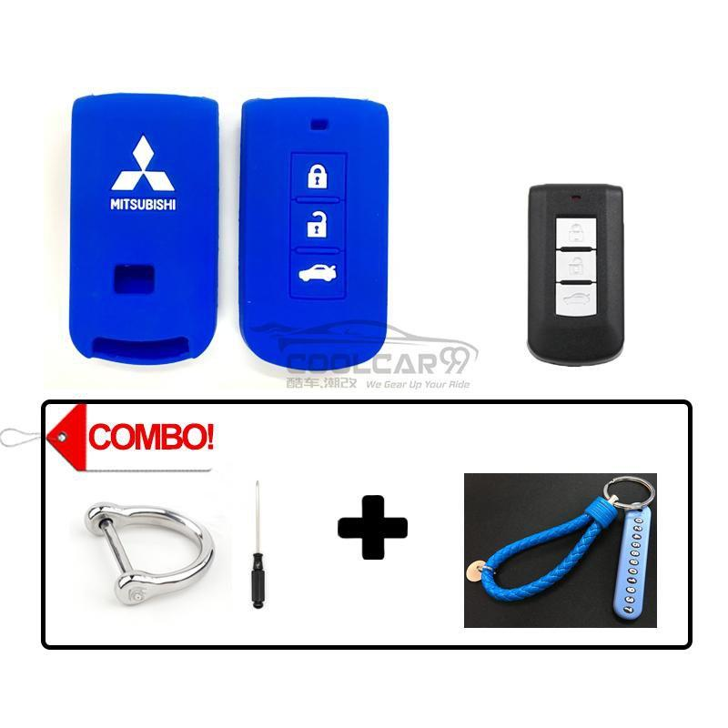 Silicone Key Cover COMBO-BLUE Mitsubishi Lancer / Outlander Silicone Key Case Cover