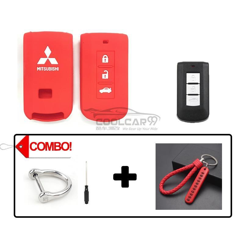 Silicone Key Cover COMBO-RED Mitsubishi Lancer / Outlander Silicone Key Case Cover