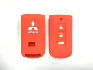 Silicone Key Cover RED Mitsubishi Lancer / Outlander Silicone Key Case Cover