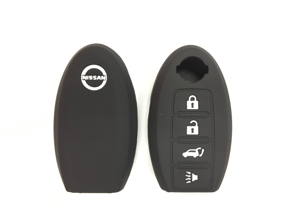 Silicone Key Cover BLACK Nissan Almera / Livina / Sylphy / Teana Silicone Key Case Cover