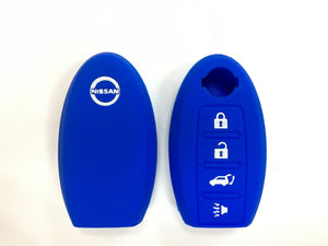 Silicone Key Cover BLUE Nissan Almera / Livina / Sylphy / Teana Silicone Key Case Cover