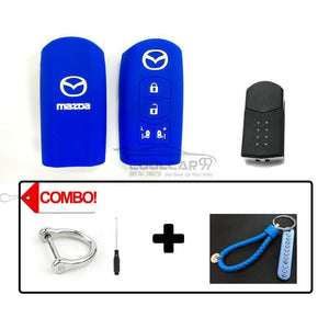 Silicone Key Cover COMBO-BLUE Mazda Silicone Key Case Cover