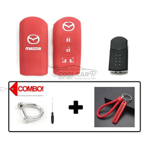 Silicone Key Cover COMBO-RED Mazda Silicone Key Case Cover
