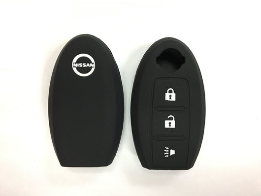 Silicone Key Cover BLACK Nissan Silicone Key Case Cover