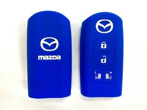 Silicone Key Cover BLUE Mazda Silicone Key Case Cover