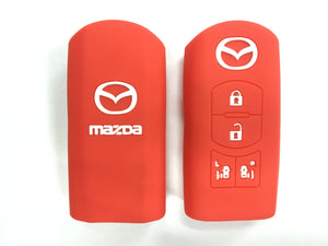 Silicone Key Cover RED Mazda Silicone Key Case Cover