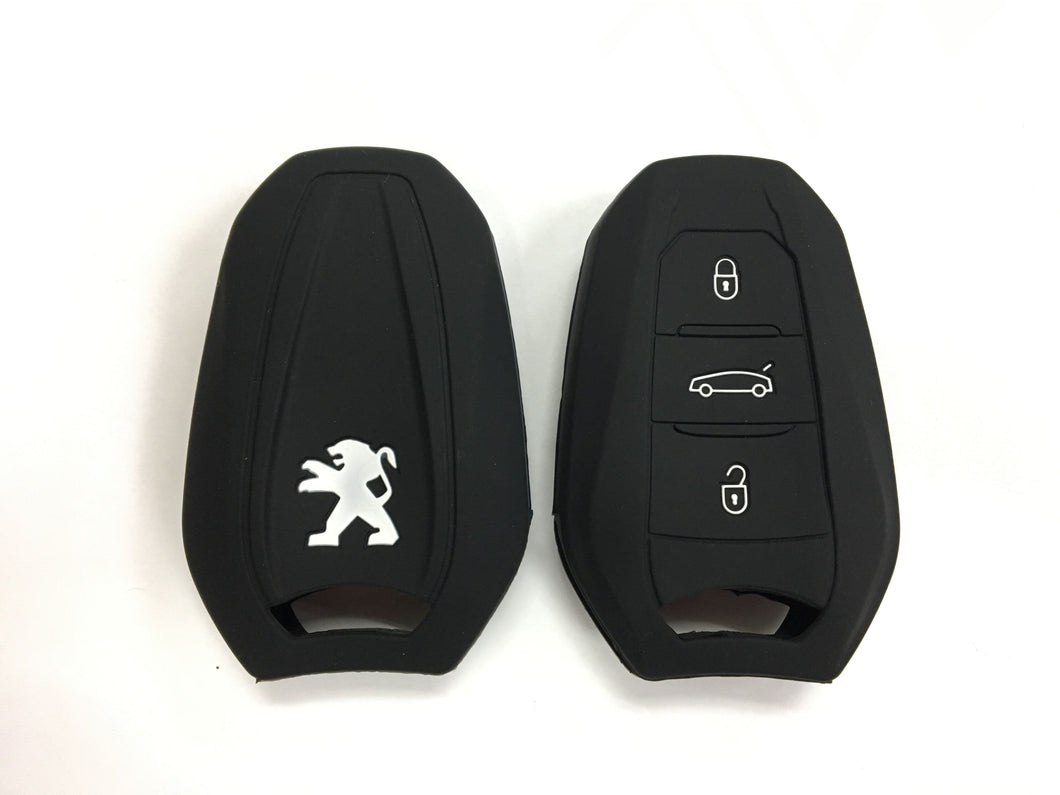 Silicone Key Cover BLACK Peugeot 208 / 308 / 2008 / 3008 / 5008 Silicone Key Case Cover