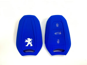 Silicone Key Cover BLUE Peugeot 208 / 308 / 2008 / 3008 / 5008 Silicone Key Case Cover