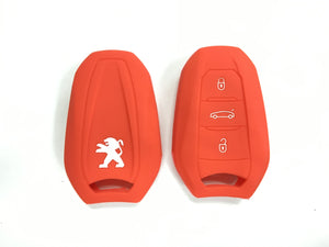 Silicone Key Cover RED Peugeot 208 / 308 / 2008 / 3008 / 5008 Silicone Key Case Cover