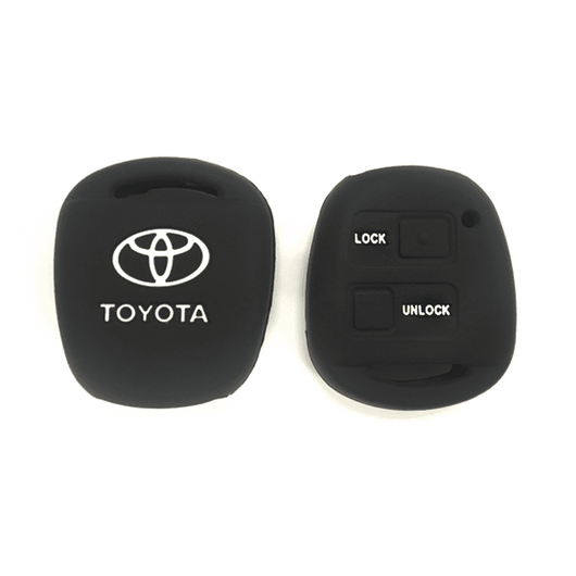 Silicone Key Cover Black x 1 Toyota Alphard AH10 2002-2008 Silicone Key Case Cover