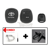 Silicone Key Cover COMBO-BLACK Toyota Alphard AH10 2002-2008 Silicone Key Case Cover