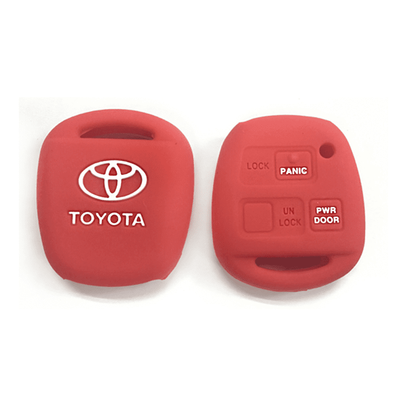Silicone Key Cover Red x 1 Toyota Alphard AH10 2002-2008 Silicone Key Case Cover