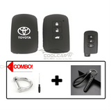 Silicone Key Cover COMBO-BLACK Toyota Altis / Camry Silicone Key Case Cover