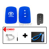 Silicone Key Cover Blue Combo Toyota Altis / Camry Silicone Key Case Cover