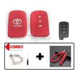 Silicone Key Cover COMBO-RED Toyota Altis / Camry Silicone Key Case Cover