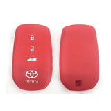 Silicone Key Cover Red x 1 Toyota Camry / Camry Hybrid / Fortuner Silicone Key Case Cover