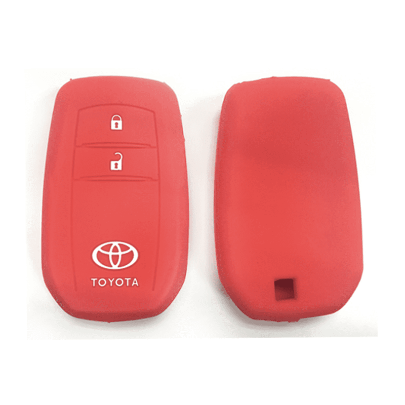 Silicone Key Cover Red x 1 Toyota Hilux Revo / New Innova Silicone Key Case Cover