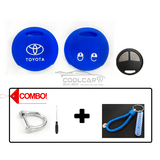 Silicone Key Cover Blue Combo Toyota Vios / Altis Silicone Key Case Cover