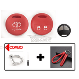 Silicone Key Cover COMBO-RED Toyota Vios / Altis Silicone Key Case Cover