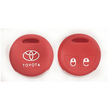 Silicone Key Cover Red x 1 Toyota Vios / Altis Silicone Key Case Cover
