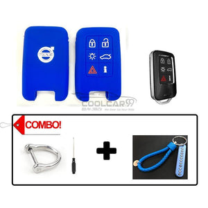 Silicone Key Cover COMBO-BLUE Volvo Silicone Key Case Cover