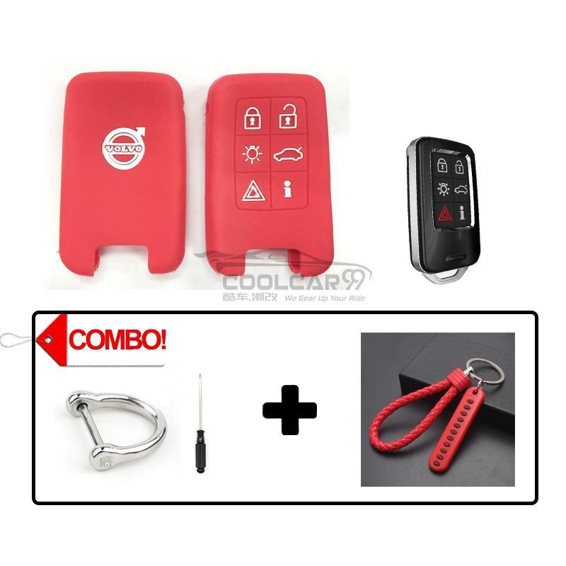 Silicone Key Cover COMBO-RED Volvo Silicone Key Case Cover