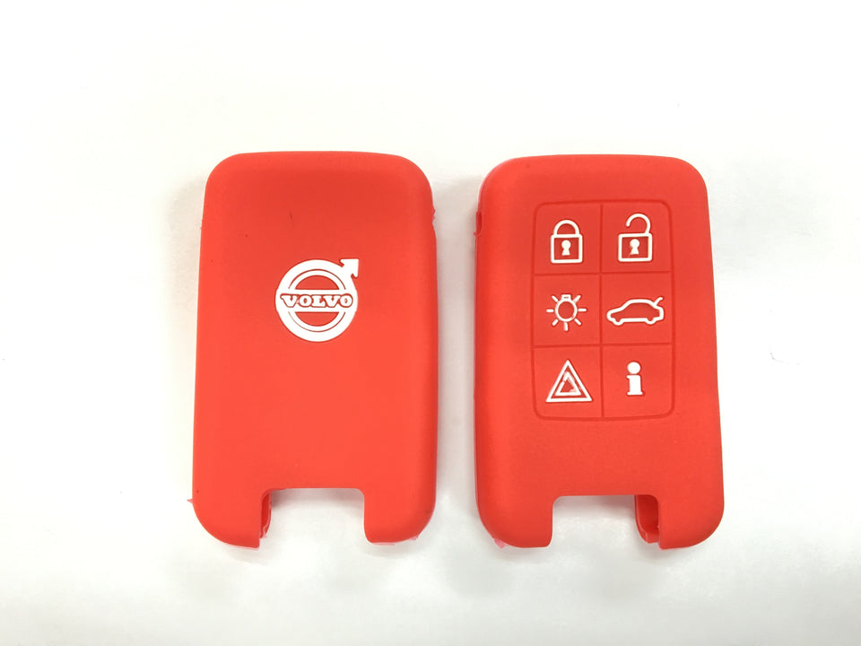 Silicone Key Cover RED Volvo Silicone Key Case Cover