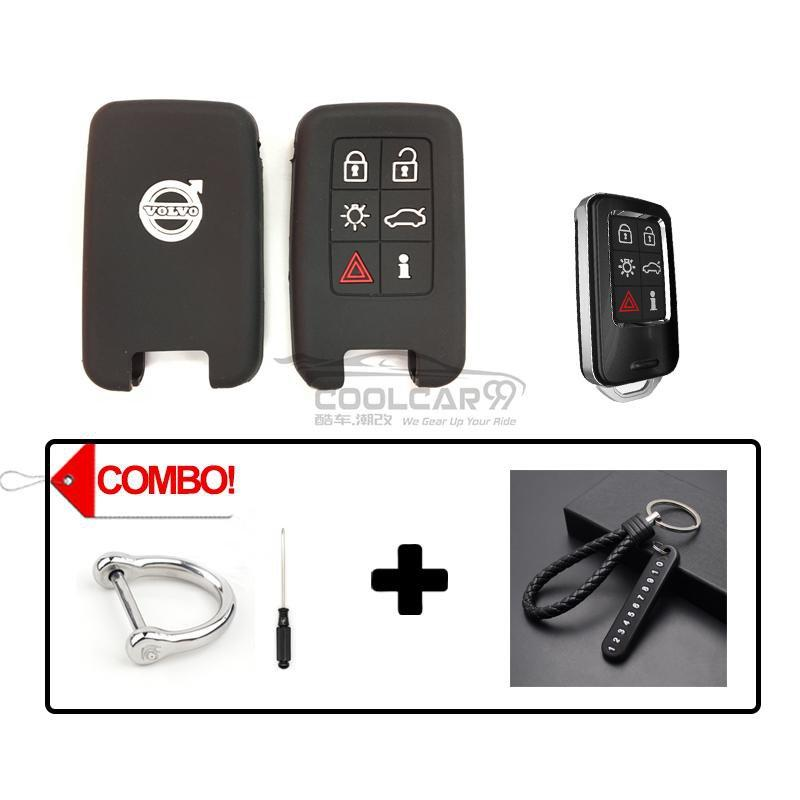 Silicone Key Cover COMBO-BLACK Volvo Silicone Key Case Cover