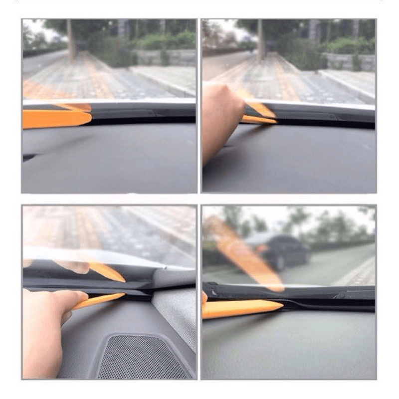 Soundproofing 1.6M T Shape Car Dashboard Sound Insulation Sound Proof Rubber Seal Windshield