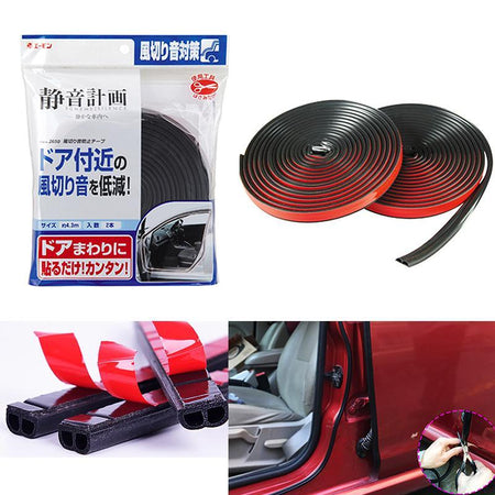 Soundproofing Scheme Silence 4.3m Car Door Air Tight Slim Rubber Seal Stripe Sound & Wind Poof