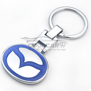 Stainless Keychains With Logo Stainless Steel Metal 3D Key Chain Mazda High Solid Stainless Steel Car Key Chain