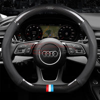 Steering Cover Audi Carbon Fiber Leather Steering Cover D Shape