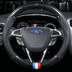 Steering Cover Carbon Ford Carbon Fiber Leather Steering Cover