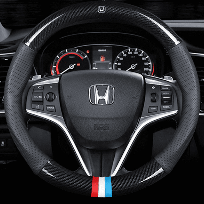 Steering Cover Carbon 38 Honda Carbon Fiber Leather Steering Cover
