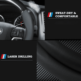 Steering Cover Carbon Mazda Carbon Fiber Leather Steering Cover