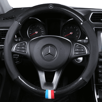 Steering Cover Carbon Mercedes Benz Carbon Fiber Leather Steering Cover