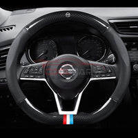 Steering Cover Nissan Carbon Fiber Leather Steering Cover D Shape