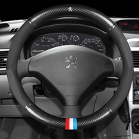 Steering Cover Carbon Peugeot Carbon Fiber Leather Steering Cover