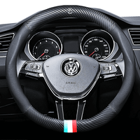 Steering Cover Carbon Volkswagen Carbon Fiber Leather Steering Cover