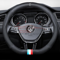 Steering Cover Volkswagen Carbon Fiber Leather Steering Cover D Shape