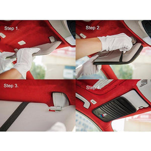Sun Visor Disc Holder Carbon Fiber AUDI RS SLine Sun Visor Disc Holder Organizer Storage